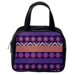 Colorful Winter Pattern Classic Handbags (One Side) Front