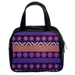 Colorful Winter Pattern Classic Handbags (2 Sides) Front