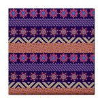 Colorful Winter Pattern Face Towel Front