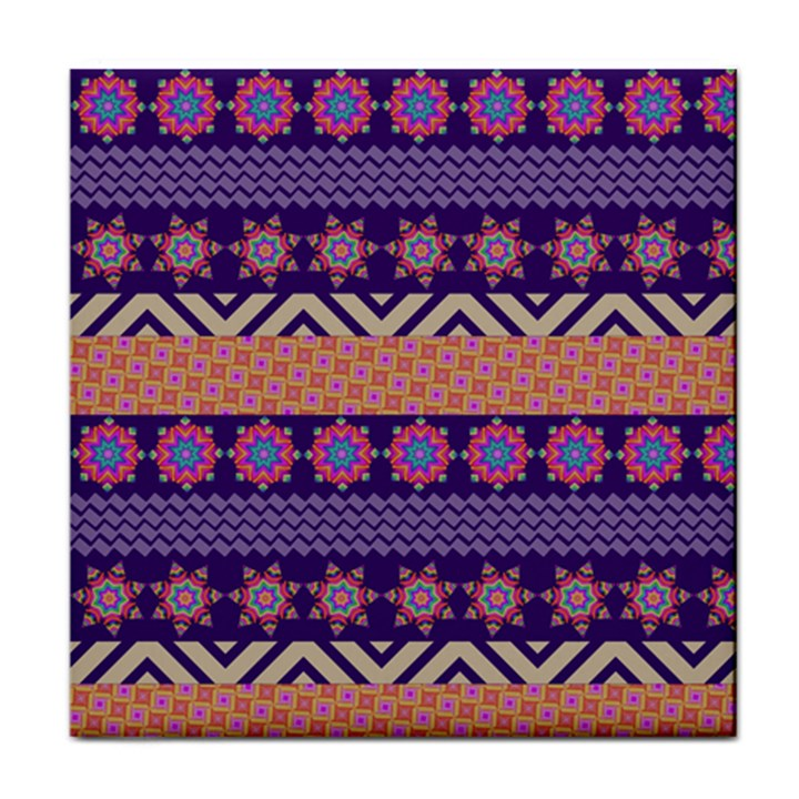 Colorful Winter Pattern Face Towel