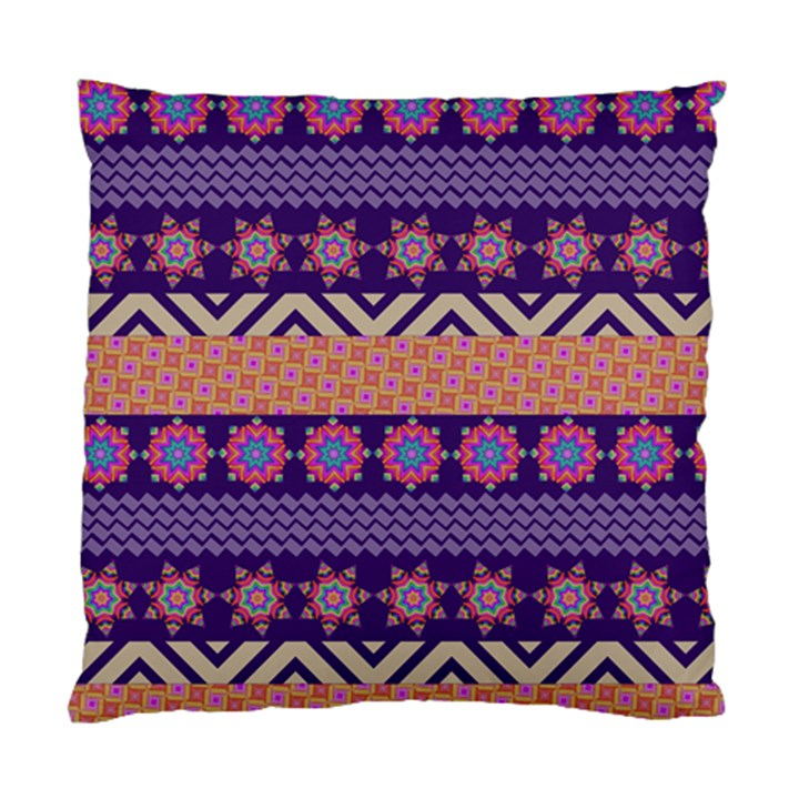 Colorful Winter Pattern Standard Cushion Case (Two Sides)