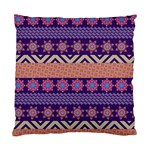 Colorful Winter Pattern Standard Cushion Case (Two Sides) Back