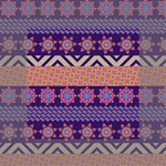 Colorful Winter Pattern Mini Canvas 4  x 4  4  x 4  x 0.875  Stretched Canvas