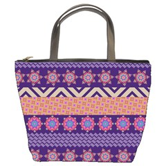 Colorful Winter Pattern Bucket Bags
