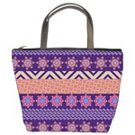 Colorful Winter Pattern Bucket Bags Front