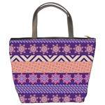 Colorful Winter Pattern Bucket Bags Back