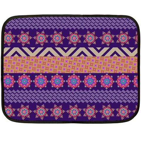 Colorful Winter Pattern Fleece Blanket (Mini)