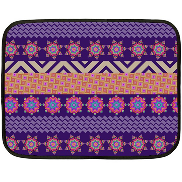 Colorful Winter Pattern Fleece Blanket (Mini)