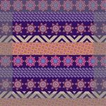 Colorful Winter Pattern Mini Canvas 6  x 6  6  x 6  x 0.875  Stretched Canvas