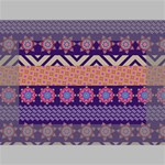 Colorful Winter Pattern Mini Canvas 6  x 4  6  x 4  x 0.875  Stretched Canvas