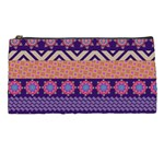 Colorful Winter Pattern Pencil Cases Front