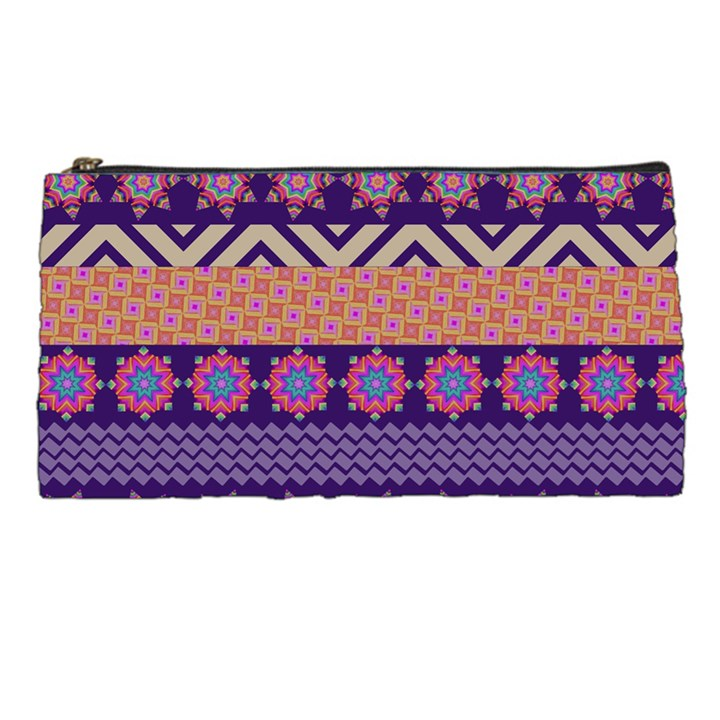 Colorful Winter Pattern Pencil Cases