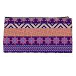 Colorful Winter Pattern Pencil Cases Back