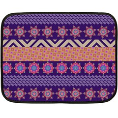 Colorful Winter Pattern Double Sided Fleece Blanket (Mini)
