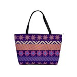 Colorful Winter Pattern Shoulder Handbags Front