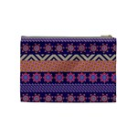Colorful Winter Pattern Cosmetic Bag (Medium)  Back