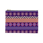 Colorful Winter Pattern Cosmetic Bag (Large)  Front