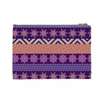 Colorful Winter Pattern Cosmetic Bag (Large)  Back