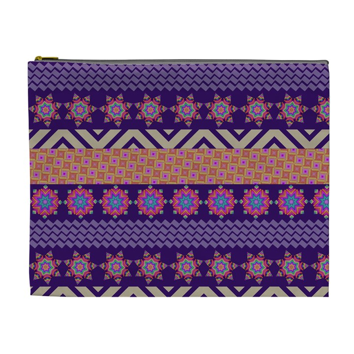 Colorful Winter Pattern Cosmetic Bag (XL)