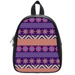 Colorful Winter Pattern School Bags (Small)  Front