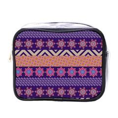 Colorful Winter Pattern Mini Toiletries Bags