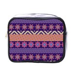 Colorful Winter Pattern Mini Toiletries Bags Front