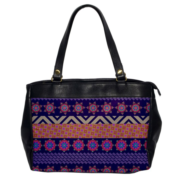 Colorful Winter Pattern Office Handbags
