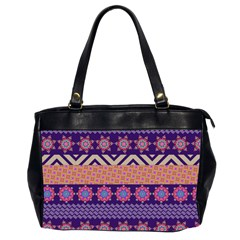 Colorful Winter Pattern Office Handbags (2 Sides)