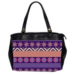 Colorful Winter Pattern Office Handbags (2 Sides)  Front