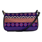Colorful Winter Pattern Shoulder Clutch Bags Front