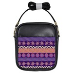 Colorful Winter Pattern Girls Sling Bags Front