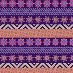 Colorful Winter Pattern Magic Photo Cubes Side 1