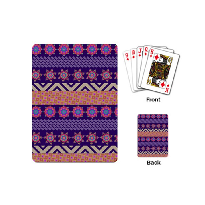 Colorful Winter Pattern Playing Cards (Mini)