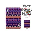 Colorful Winter Pattern Playing Cards 54 (Mini)  Front - SpadeK