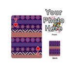 Colorful Winter Pattern Playing Cards 54 (Mini)  Front - Heart7