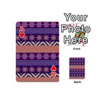 Colorful Winter Pattern Playing Cards 54 (Mini)  Front - HeartA