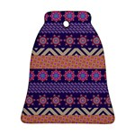 Colorful Winter Pattern Ornament (Bell)  Front