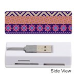 Colorful Winter Pattern Memory Card Reader (Stick)  Front