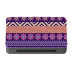 Colorful Winter Pattern Memory Card Reader with CF Front