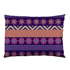 Colorful Winter Pattern Pillow Case (two Sides)