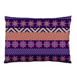 Colorful Winter Pattern Pillow Case (Two Sides) Back