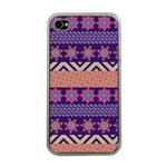 Colorful Winter Pattern Apple iPhone 4 Case (Clear) Front
