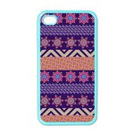 Colorful Winter Pattern Apple iPhone 4 Case (Color) Front