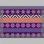Colorful Winter Pattern Deluxe Canvas 18  x 12   18  x 12  x 1.5  Stretched Canvas