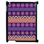 Colorful Winter Pattern Apple iPad 2 Case (Black) Front