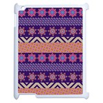 Colorful Winter Pattern Apple iPad 2 Case (White) Front