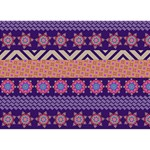 Colorful Winter Pattern Ribbon 3D Greeting Card (7x5) Front