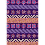 Colorful Winter Pattern Ribbon 3D Greeting Card (7x5) Inside