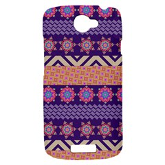 Colorful Winter Pattern HTC One S Hardshell Case