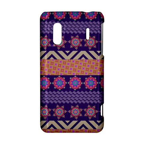 Colorful Winter Pattern HTC Evo Design 4G/ Hero S Hardshell Case